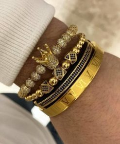 Bracelet Hommes Or Crown