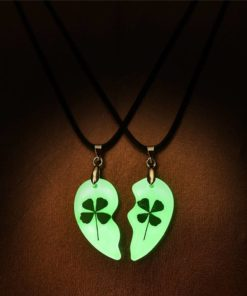 Collier Trèfle Fluo Lumineux