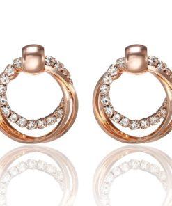 Boucles d'oreilles coréenne anneau femmes