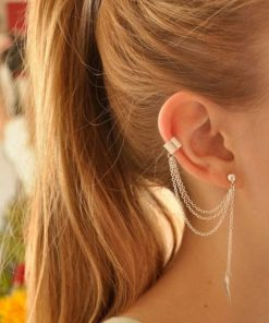 Boucles D'oreilles Pendantes Pas Cher Couleur Or ou Argent