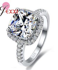 Bague Luxe Femme Fiançailles - Argent 925 - Diamant Zirconium