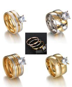 Alliances Joaillerie Diamant Zircon