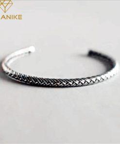 Bracelet Argent Torsadé Femme
