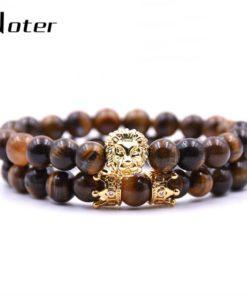Bracelets homme en Pierres et Tête de Lion - Bijou Zen Tendance