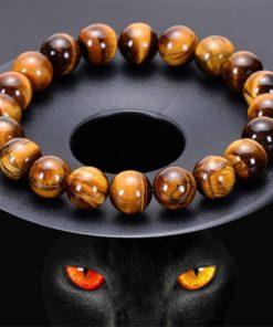 Bracelet Hommes œil de Tigre - Pierre Naturelle