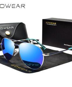 Lunettes de soleil de marque, avec verre anti-UV400 et Design pilote - Homme