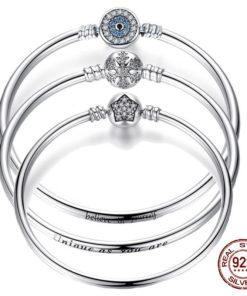 Bracelet Luxe Argent Boule Fermoir en étoile