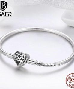 Bracelet Argent Cœur Femme