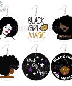Boucles d'Oreilles Design Afro