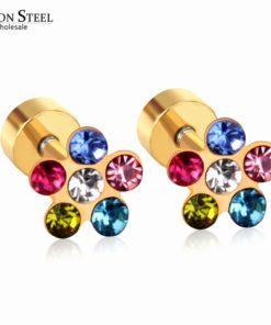 Boucles d'Oreilles Diamant Zircon Colorés