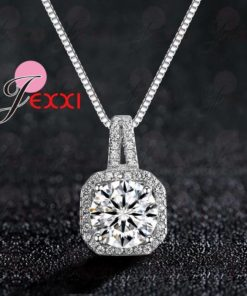 Collier Diamant Zircon et Argent 925