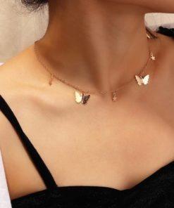 Collier Femme Multi-Papillon