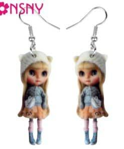 Boucle d'Oreille Figurine Petite Fille Russe