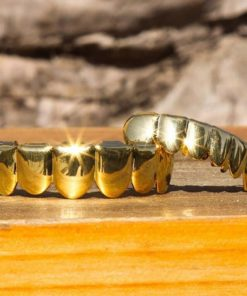 Dentier Diamant Pierre Luxe Zircon Style Rappeur Or ou Argent