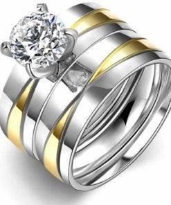 Bague pour femme avec diamant zirconium