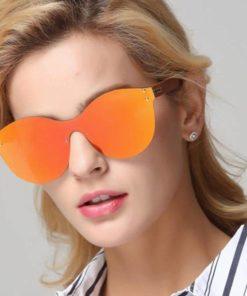 Lunette de soleil pour femme miroir orange