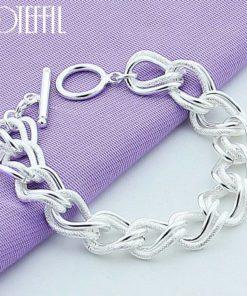 Bracelet Argent 925 Femme Gros Maillon