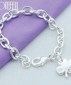 Bracelet Chaîne à Petites Mailles Argent