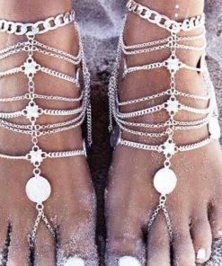 Chaîne de cheville de pied bijou de corps pour femme