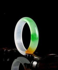 Bracelet Pure Jade transparent Blanc Jaune Vert