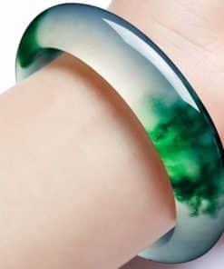 Bracelet en pierre de jade Vert transparent de chine