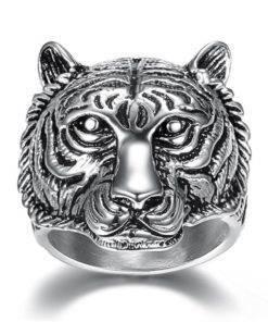 Bague Tête De Tigre Homme