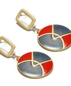 Boucles d'oreilles Rondes Design Coréen