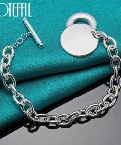 Bracelet pour Femme en Argent Véritable – Petites Mailles